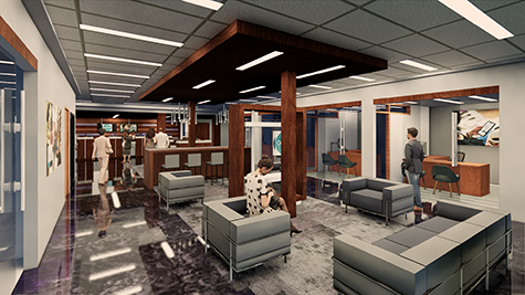Artist rendering of interior of new OnPoint North Lombard Branch