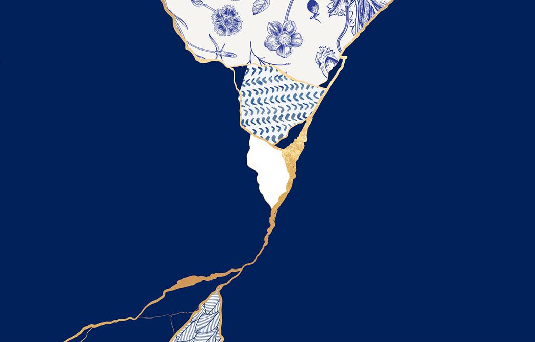 artistic imagery symbolizing the practice of kintsugi