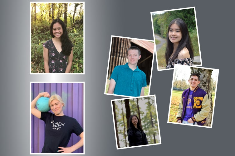 Collage of 2021 OnPoint Scholar winners