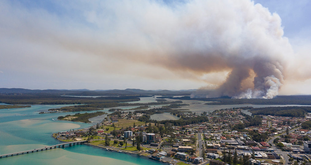 10,000 Reasons to Give $10,000 to Help the Australian Fires_Wildfire outside the town of Tuncurry