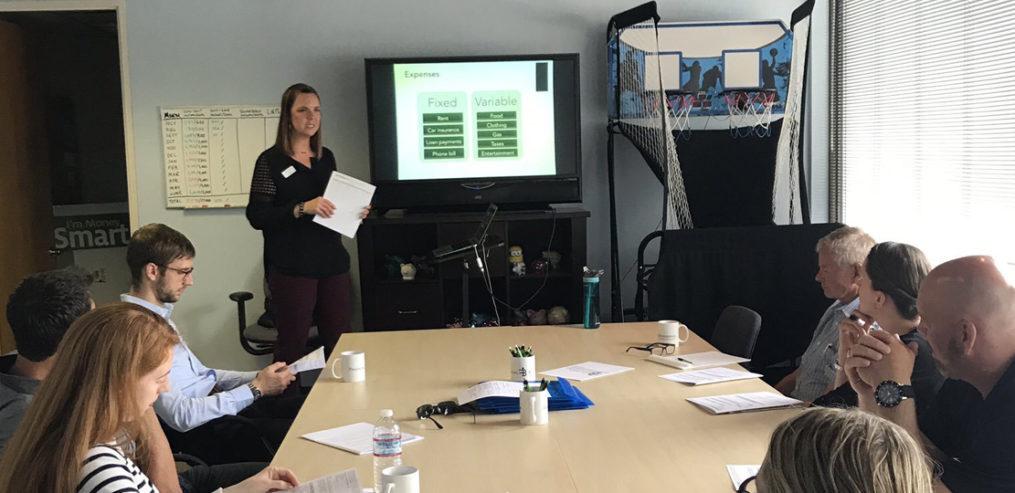 Amber Kelly Financial Beginnings Class_Amber teaching financial literacy