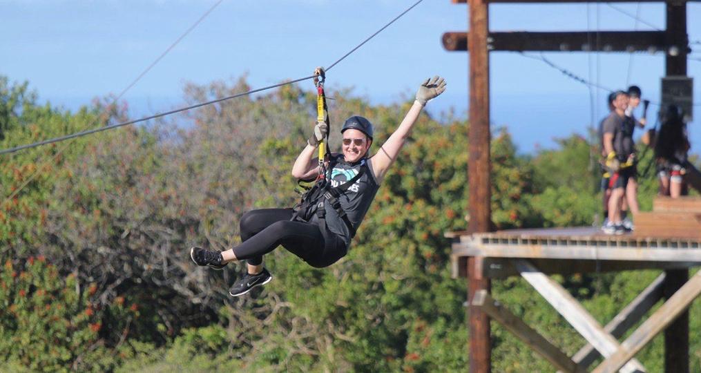 April Weissert employee spotlight_April zipline photo