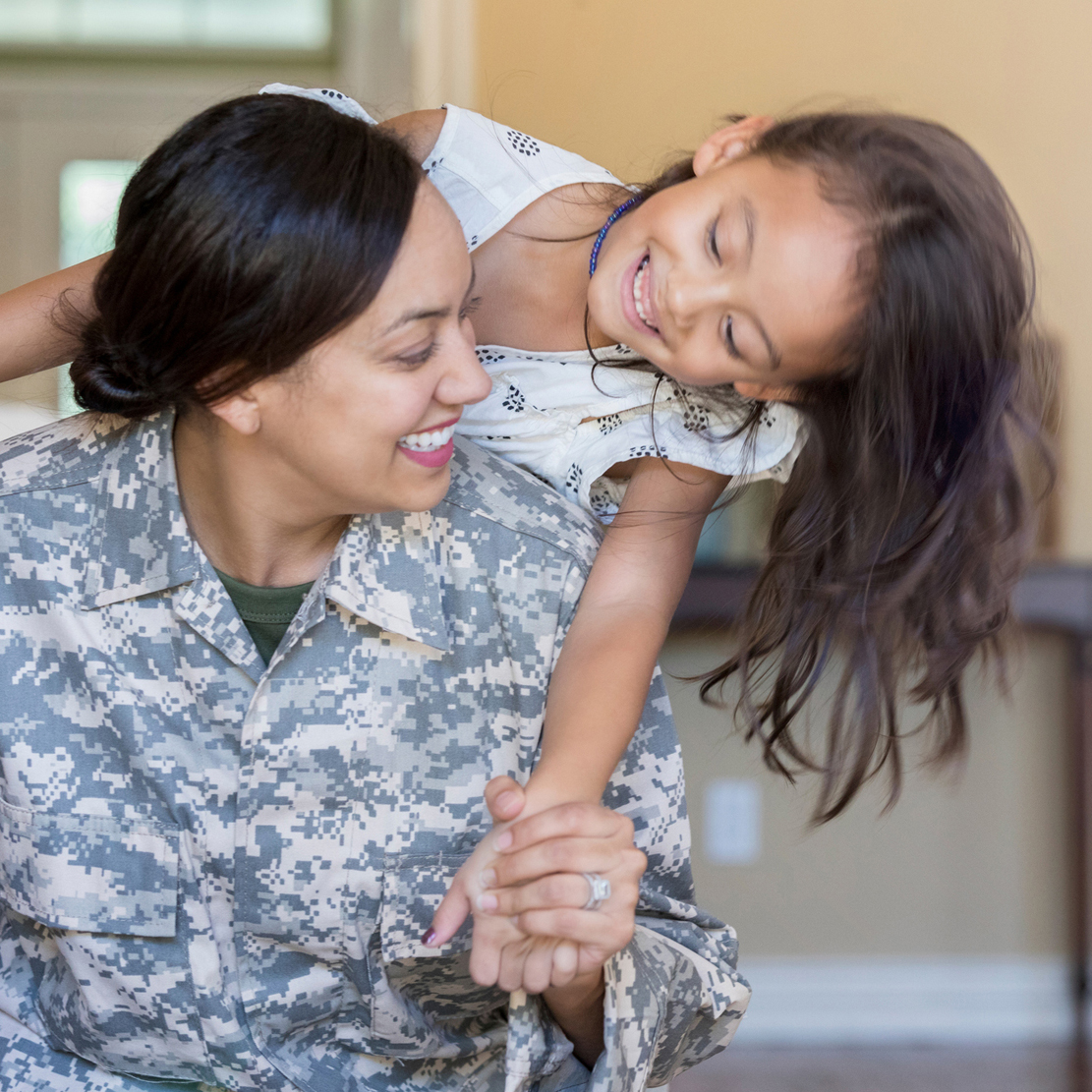 Servicemembers Are You Using All of Your Military Benefits_Military Member with her daughter