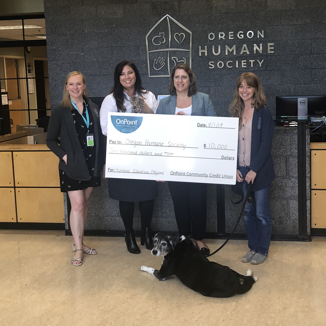 Support for Oregon Humane Society's Student Education Program