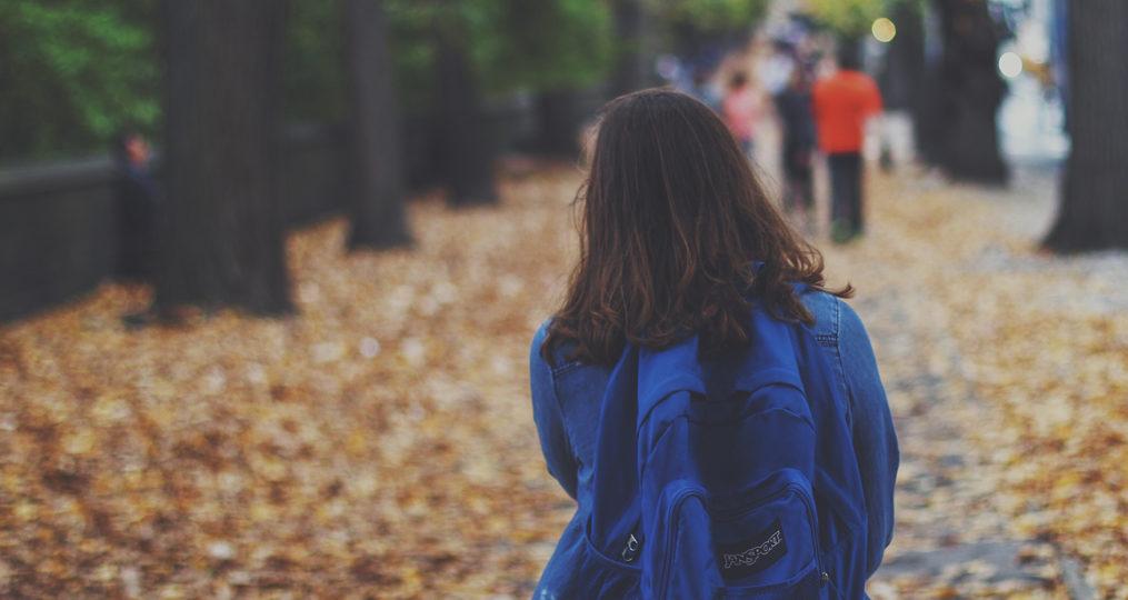 Youth Villages Oregon_girl walking at fall