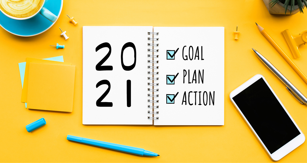 Commit to Getting Financially Fit in 2021_to do list on yellow table