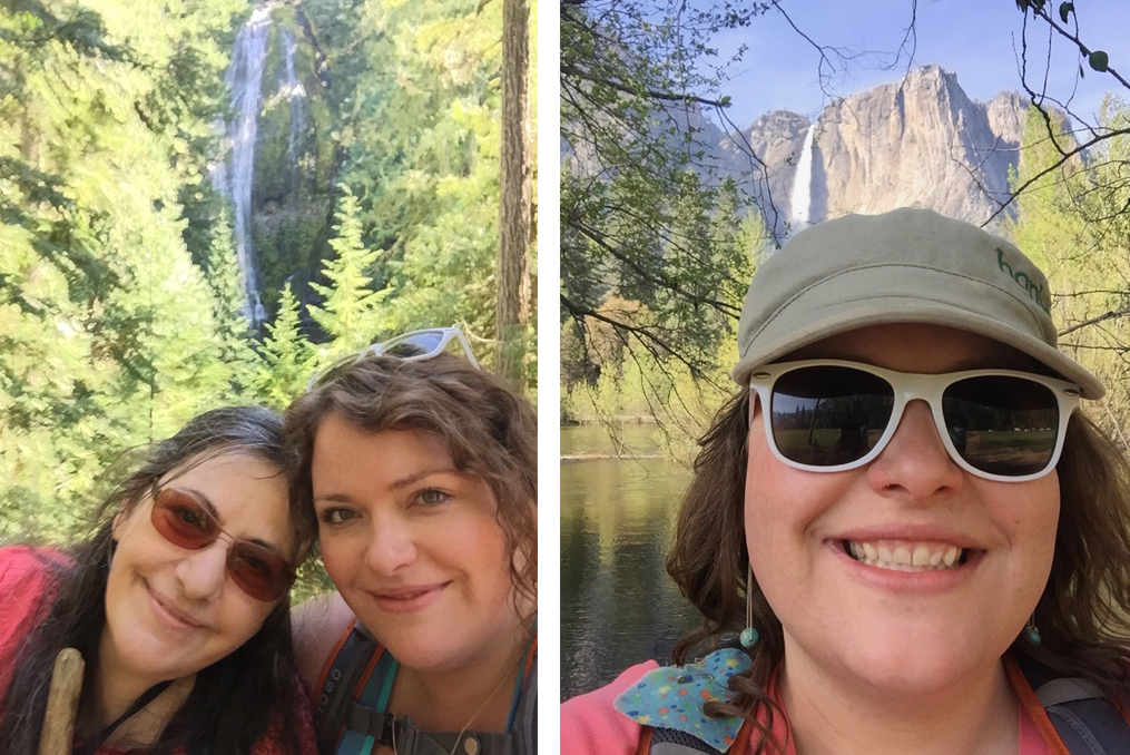 Bonnie Pearce Employee Spotlight_Bonnie with her mother and waterfall background