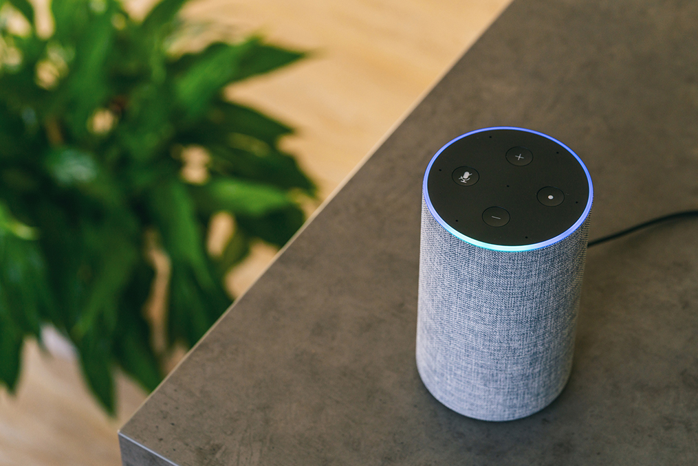 how to secure your smart speakers_smart speaker sitting on the kitchen counter at home