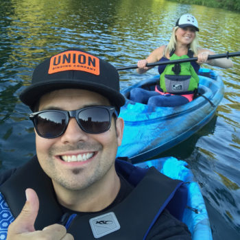spotlight interview with Alyssa Gonzales-Kayaking with Brian