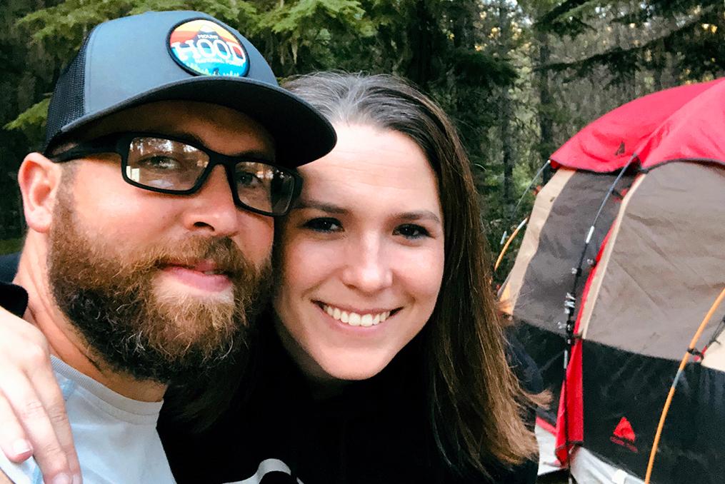Employee spotlight with LeeAnn Baker-leeann+husband camping