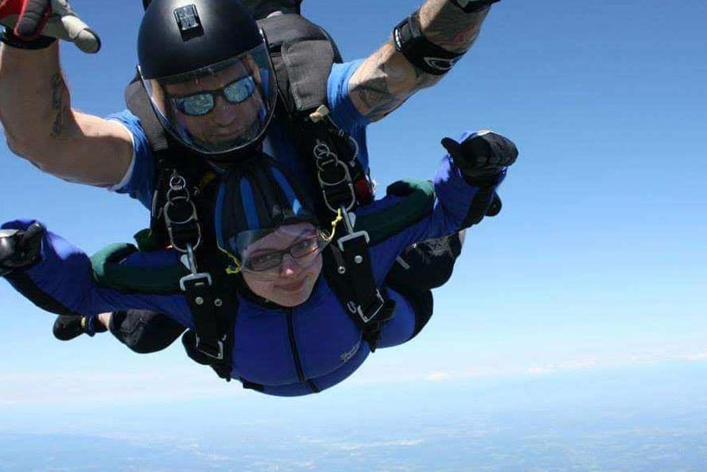 Jennifer Schlottmann employee spotlight_Jennifer skydiving