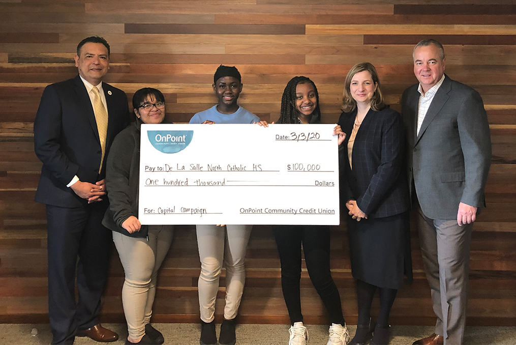 OnPoint and Fred Meyer Partnership_de la salle donation