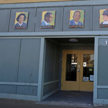 black history month 2021_front of building at Urban League of Portland