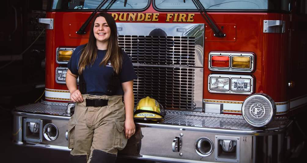employee spotlight with Angel Houston_Dundee Fire and Rescue Volunteer