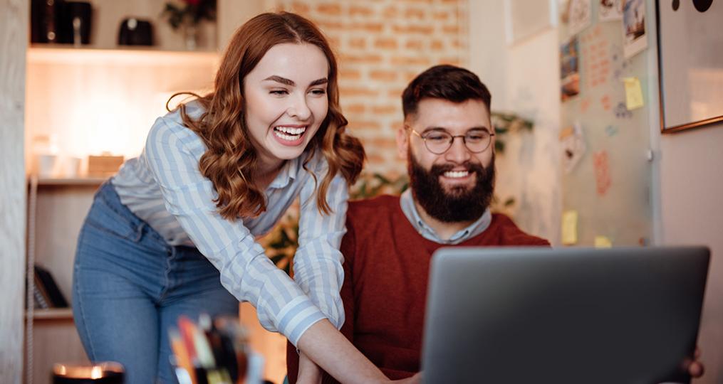 how to make a budget - Couple Doing Home Finances on Computer