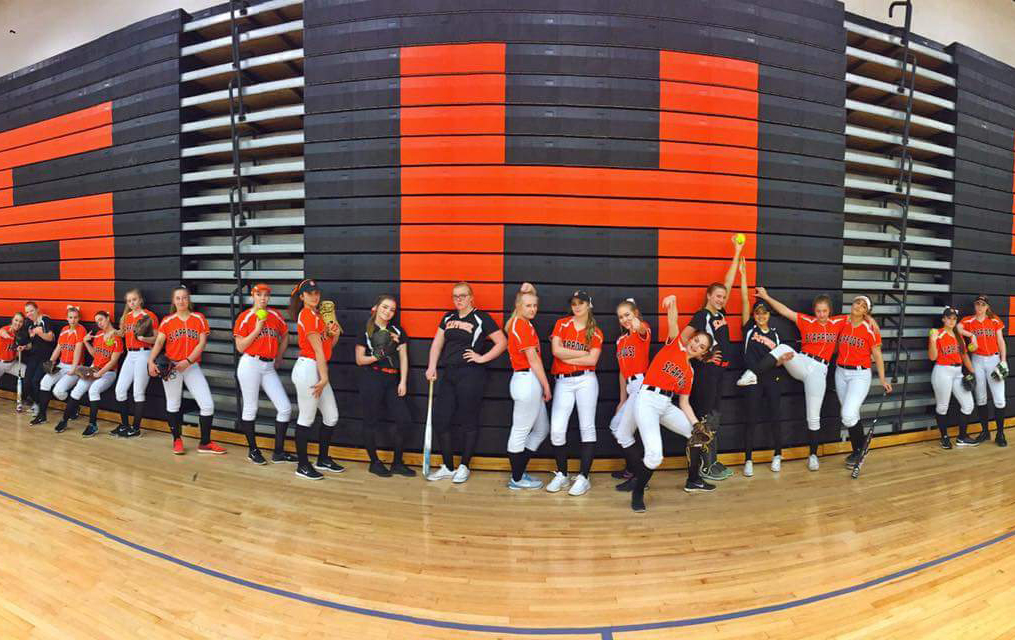 Girls high school softball team