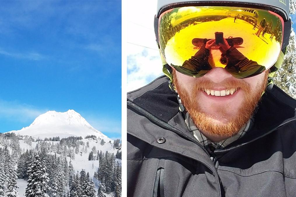Jeremy DeHut employee spotlight_Jeremy snowdoarding in the winter
