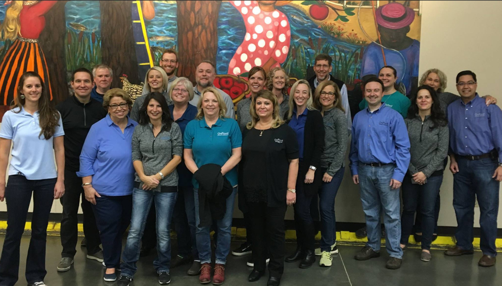 Michele DeBuhr at Oregon Food Bank with OnPoint team