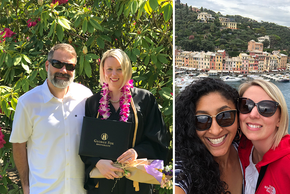 Spotlight interview with Colette Young_Colette Graduation and friends traveling