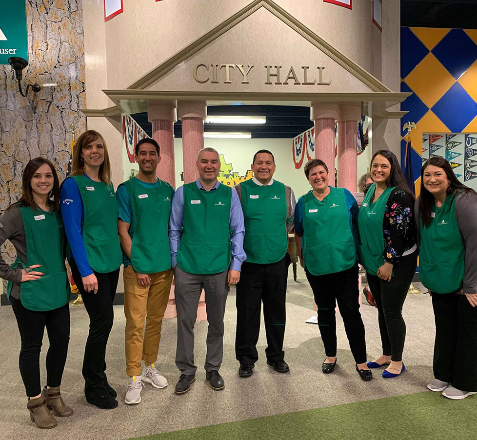 OnPoint volunteers supporting Junior Achievement