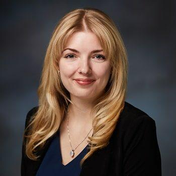 Studio portrait of Scappoose Branch Manager, Amanda Dugdale