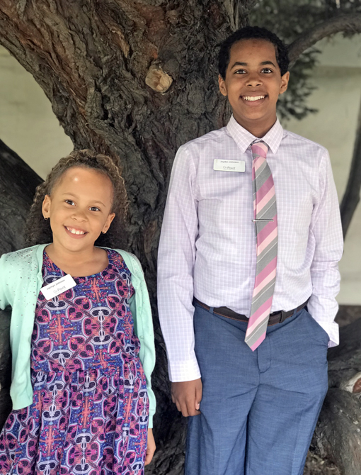 Chelsea Johnson's two children at OnPoint's take your child to work day 2019