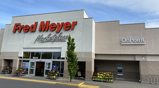 Exterior of 67th & Glisan OnPoint Branch inside Fred Meyer