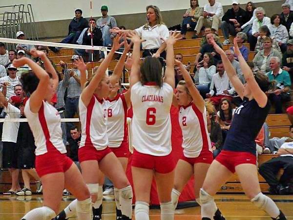 Heather Martin high school volleyball team