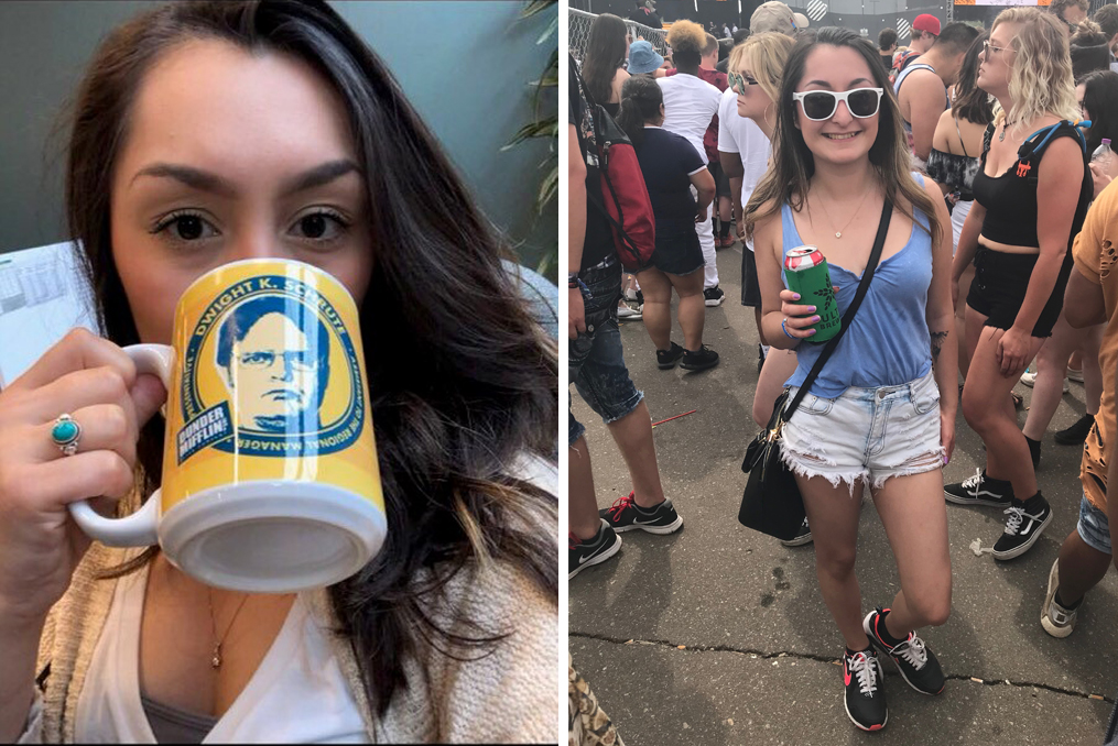 Isabel Lara_Employee Spotlight dwight coffee mug and music concert
