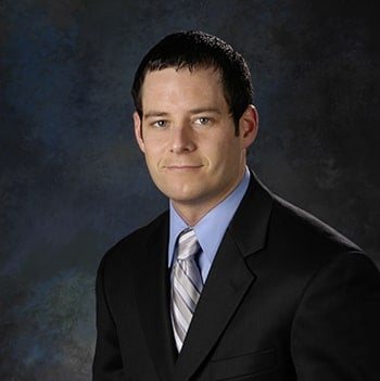 Studio portrait of Lombard Branch Manager, Kevin Kelly