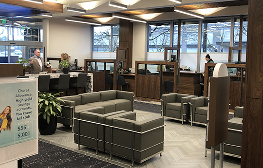 Interior of new Lloyd Center branch