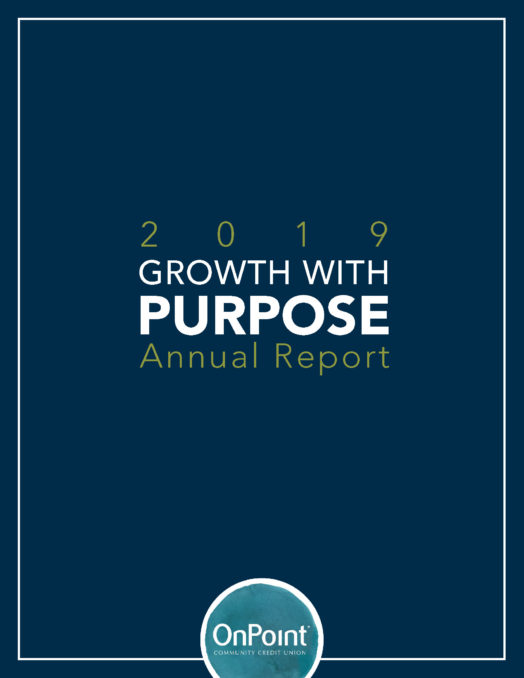 Cover of 2019 OnPoint Annual Report