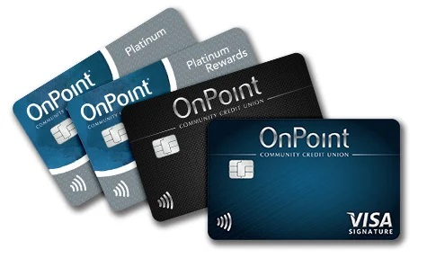 All OnPoint credit cards: Platinum, Platinum Rewards, Signature Rewards, Signature with Cash Back