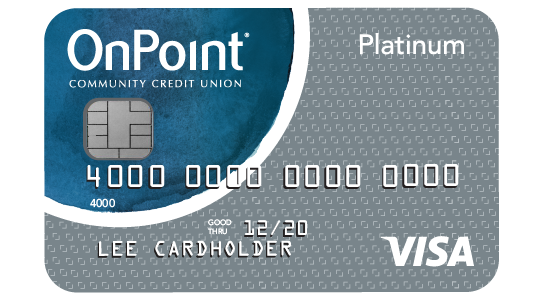 Example image of OnPoint Platinum Visa credit card