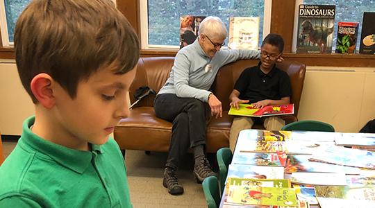 Kids and teacher in classroom