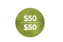 50/50 icon