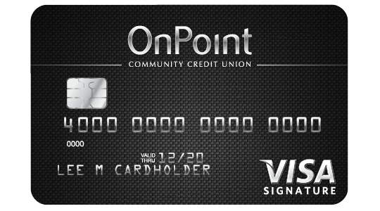 Example image of OnPoint Signature Visa credit card