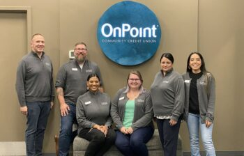 OnPoint Springfield Branch team celebrate the opening of their new branch.
