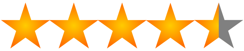 Star Rating 4.5 of 5
