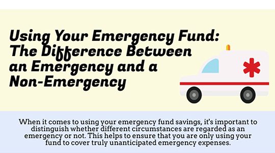 Using your emergency fund: the difference between an emargency and a non-emergency