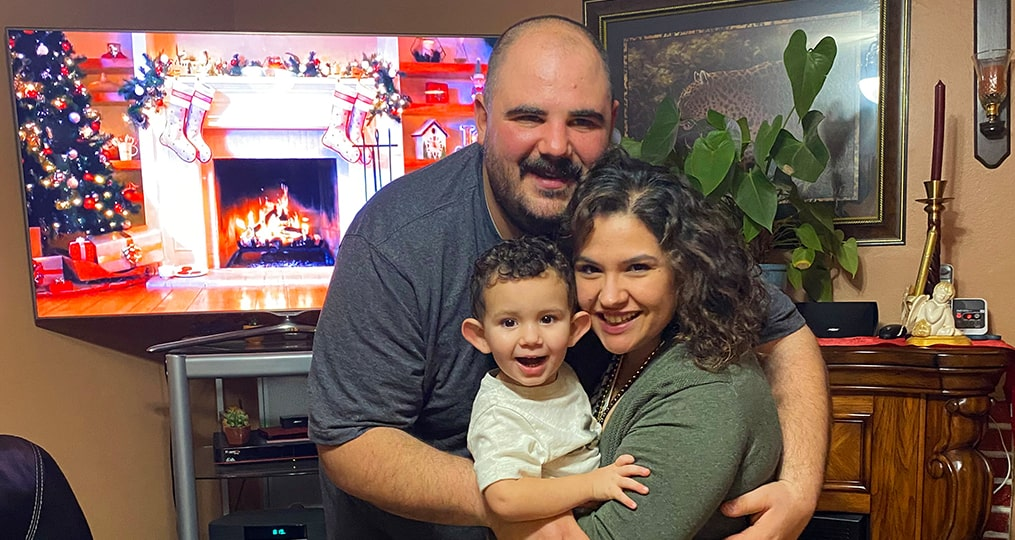 spotlight interview with Maritza Rich-maritza with her husband and son