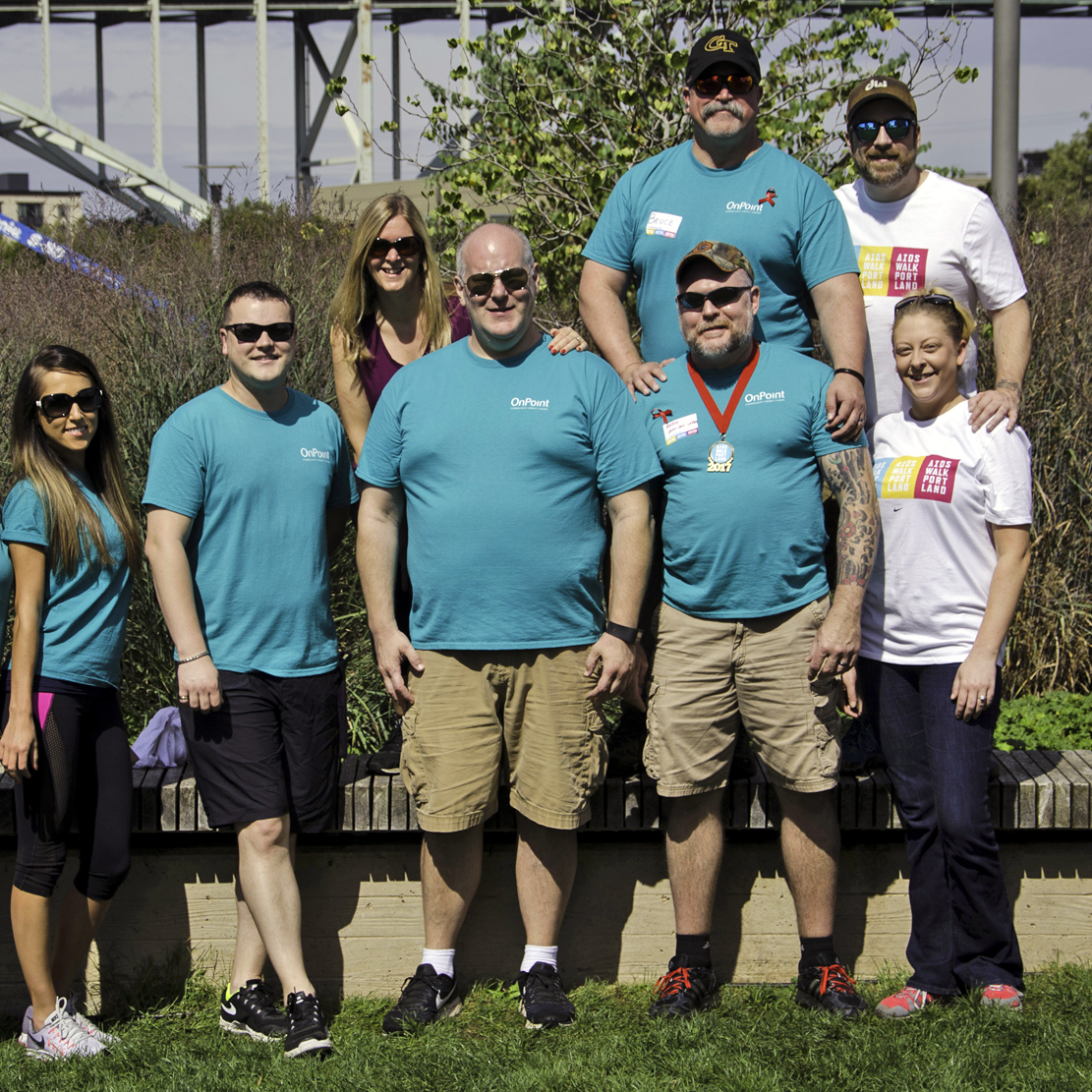 Cascade Aids Walk 2017 photo of OnPoint participants