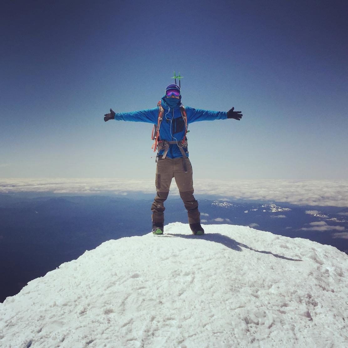 Mark Hoffman on the Mt. Rainier Summit