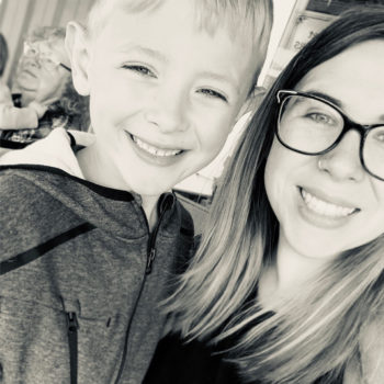 employee spotlight with Andrea Belz_Andrea with her son