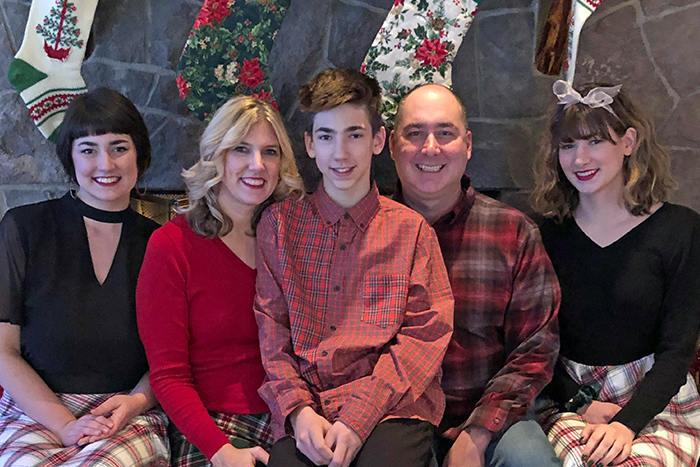 Leanne Skoog with her family during the holidays