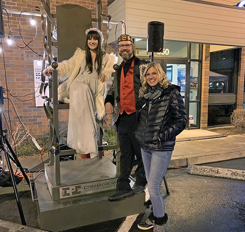 Leanne Skoog with Fire King and Ice Queen 2019