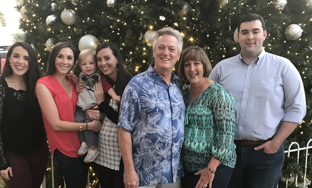 Vanessa with her family during the holidays
