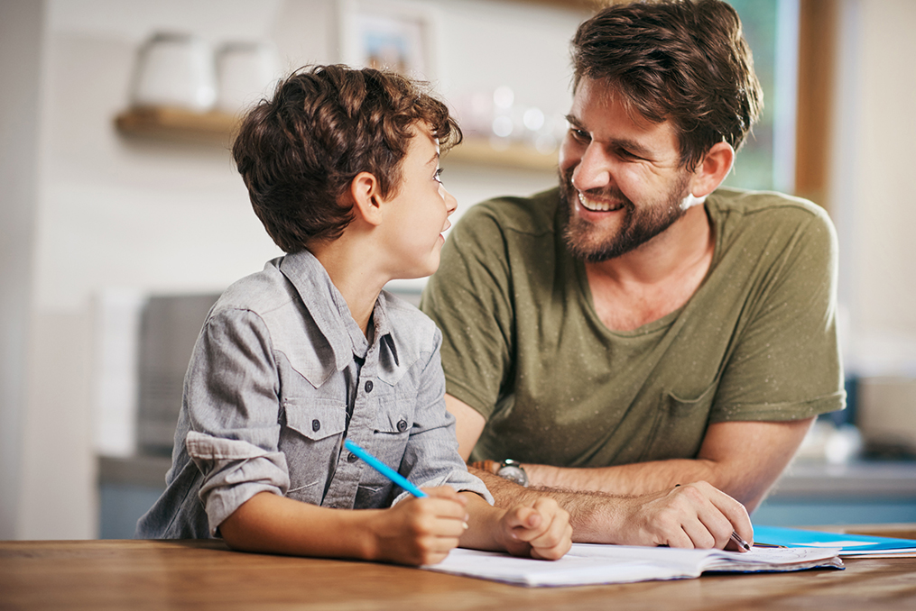 father is hands on with his sons financial education