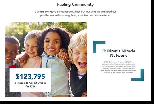 Sample image of community webpage