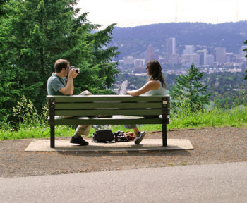 View of downtown Portland from Mt. Tabor